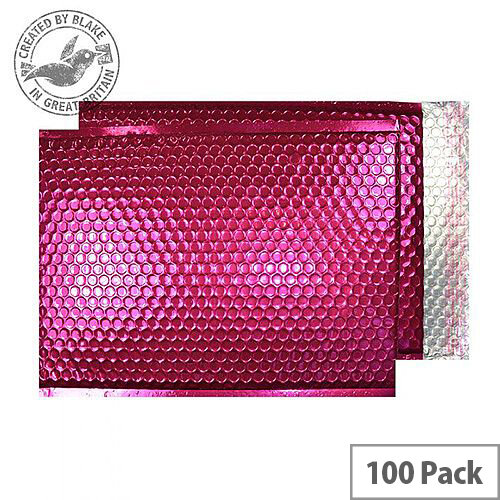 Purely Packaging C4+ Padded Envelopes Metallic Pink 324x229mm Pack of 100