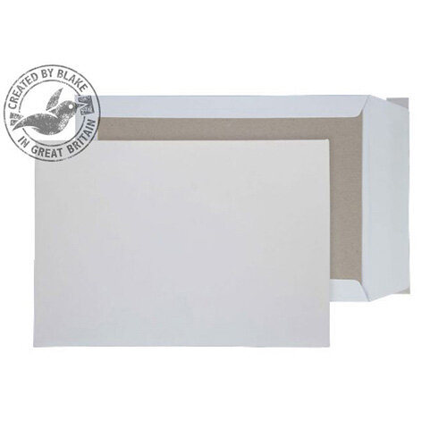 Purely Packaging Envelopes Board Backed Peel and Seal 120gsm B4 White (Pack 125)