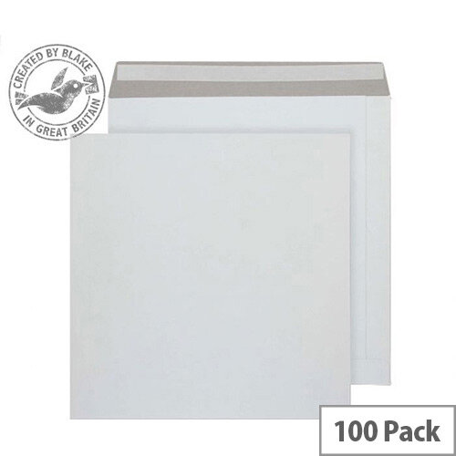 Purely Packaging Envelope All Board P& 350gsm 340x340mm White Ref PPA13 [Pk 100]