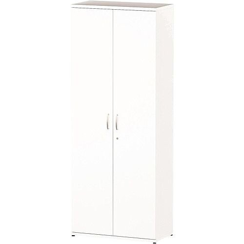 Tall Cupboard With 5 Shelves H2000mm White