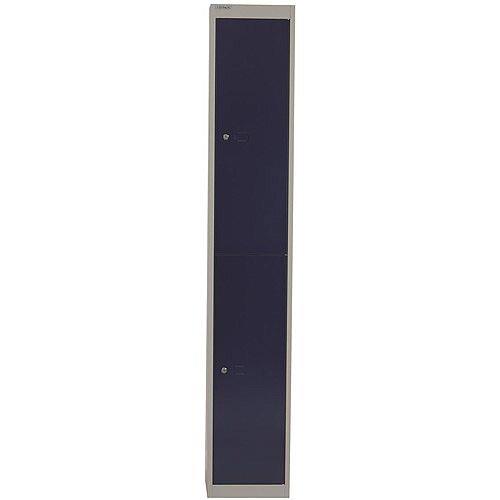 Bisley Steel Locker 457mm Deep 2 Door Grey &Blue