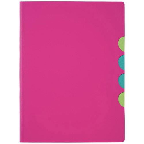 Panga Millenials A4 Part File Dark Pink Pack of 5