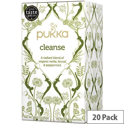 Pukka Individually Enveloped Tea Bags Cleanse Ref 5065000523473 Pack of 20
