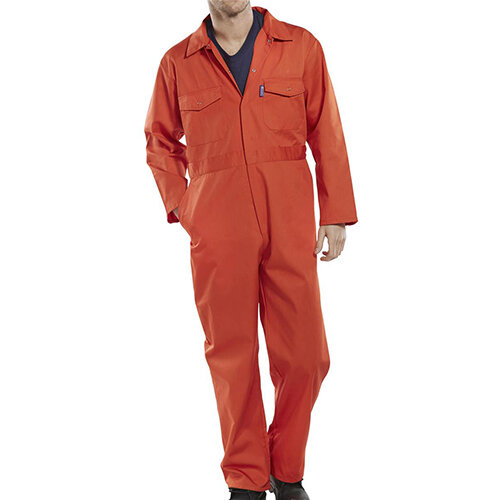 Click Workwear Boilersuit Work Overall Size 40 Orange Ref PCBSOR40