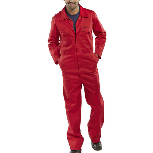 Click Workwear Boilersuit Work Overall Size 40 Red Ref PCBSRE40