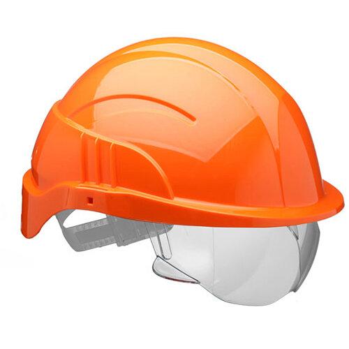 Centurion Vision Plus Safety Helmet Integrated Visor Orange Ref CNS10PLUSEORA