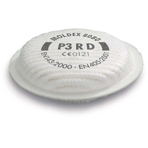 Moldex 8080 P3 R D Filter White Ref M8080 [4 Pairs]