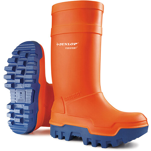 Dunlop Purofort Thermo Plus Safety Wellington Boot Size 13 Orange Ref C66234313