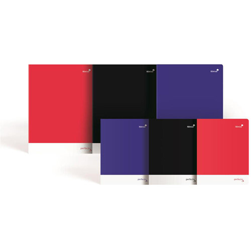 Silvine A5 Notebook Soft Velvet Cover Perforated 75gsm 160pp Assorted Pack of 6