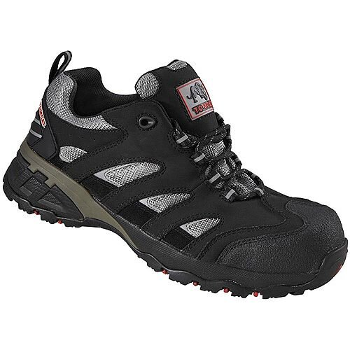 Rock Fall Maine Size 10 Safety Trainer with Fibreglass Toecap and Flexi Midsole Black/Silver