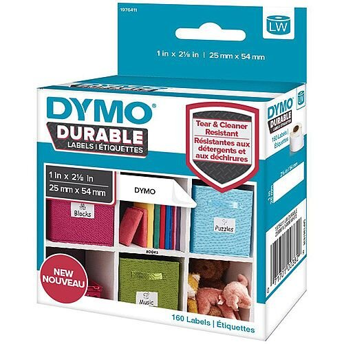 Dymo 25mmx54mm Durable Labels 1 x Pack of 160 Labels