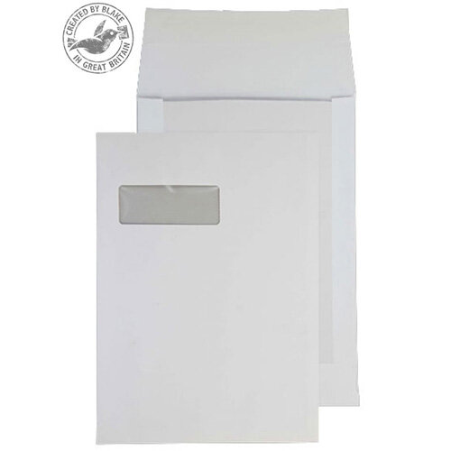 Purely Packaging C4 White Envelopes Board Backed Peel and Seal 150gsm (Pack 125)
