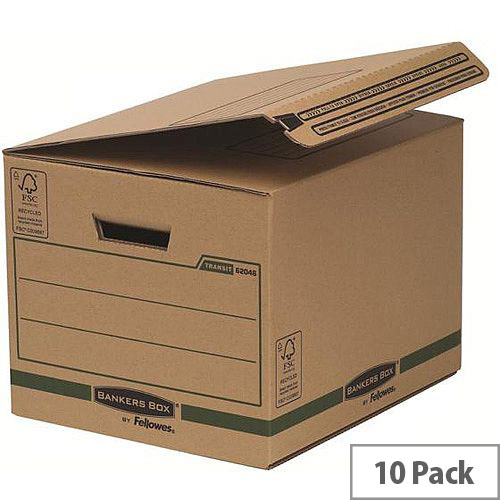 Bankers Box by Fellowes Transit Secure Ship and Store Box Pack of 10