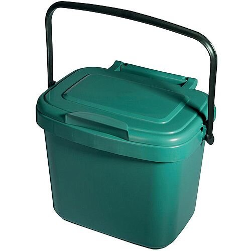 Addis Compartment Bin 5L Kitchen Compost Caddy Bin - Supplied With a Locking Lid - Your own little compost caddy - Perfect for doing your little bit for the environment.