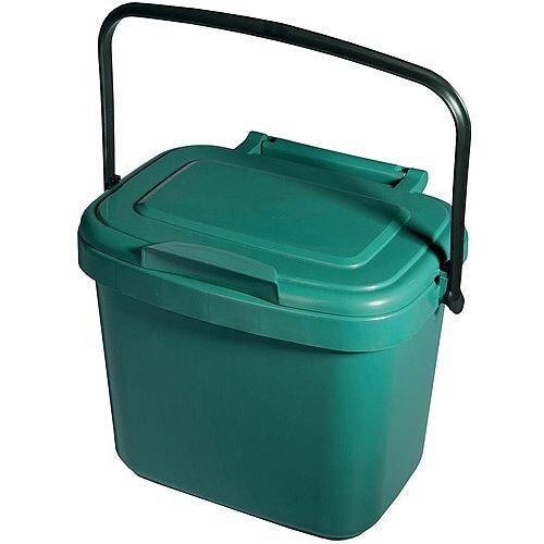 addis compartment bin 5l kitchen compost caddy bin colour. Black Bedroom Furniture Sets. Home Design Ideas