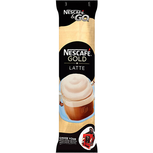 Nescafe &Go Gold Blend Latte Coffee Foil-Sealed Cup For Drinks Machine Ref 12367712 Pack of 8