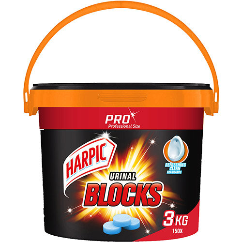 Harpic Urinal Blocks 3kg Tub of 150 Tablets