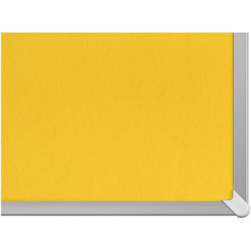 Nobo 85 inch Widescreen Felt Board 1880x1060mm Yellow Ref 1905321