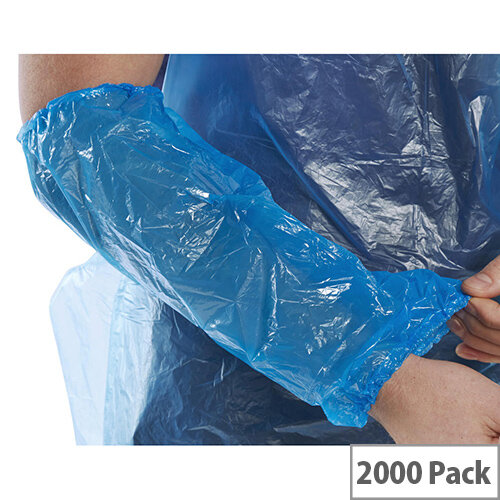 Click Once 14 inch Disposable Oversleeves Blue Pack of 2000 Ref DO14B2