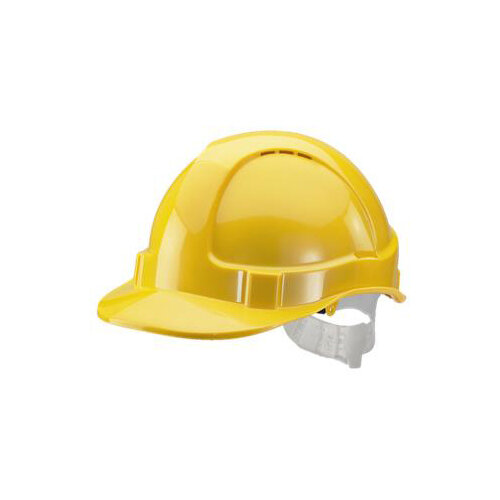 BBrand Economy Vented Safety Helmet Yellow Ref BBEVSHY
