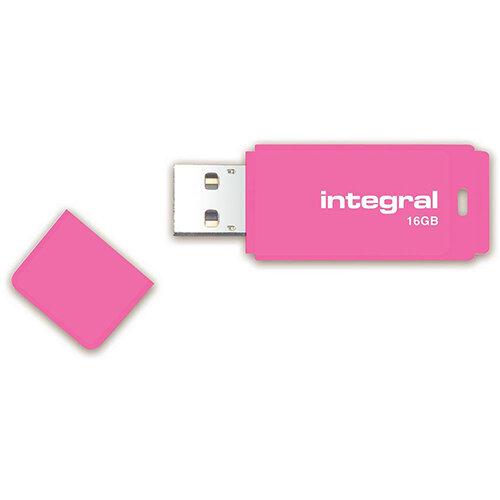 Integral Neon 16GB USB Flash Drive Ref INFD16GBNEONPK
