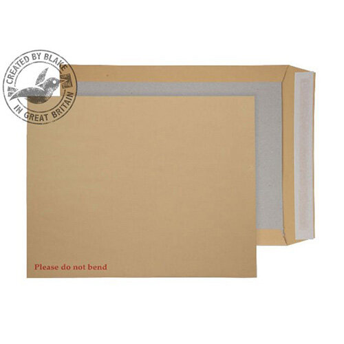Purely Packaging Manilla Envelopes Board Backed Peel and Seal 394x318mm (Pack 125)