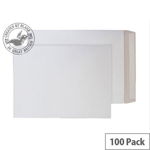 Purely Packaging White Envelopes All Board Peel and Seal 350gsm 352x250mm (Pack of 100)