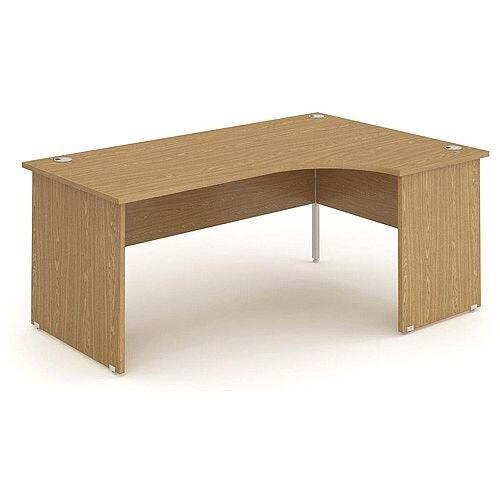 L-Shaped Corner Right Hand Panel End Office Desk Oak W1600mm