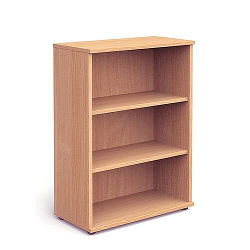 Medium Bookcase with 2 Shelves H1200mm Beech