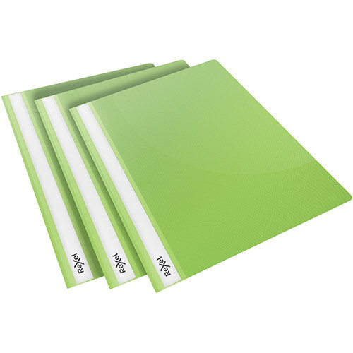 Rexel Choices Report Folder Clear Front Capacity 160 Sheets A4 Green Ref 2115643 Pack of 25