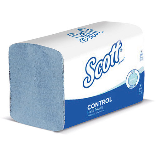 SCOTT XTRA Hand Towels 1-ply 200x315mm 240 Towels per Sleeve Blue Ref 6682 (Pack 15 Sleeve)