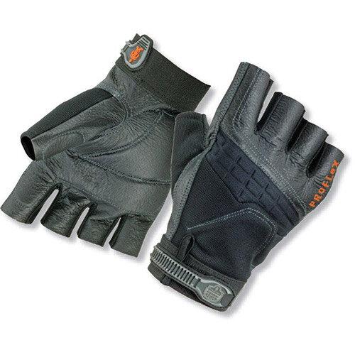 Ergodyne ProFlex 900 Impact Fingerless Large Work Gloves Black