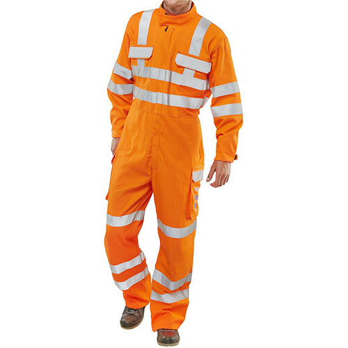 Click Arc Flash Gort Protective Work Coverall GO/RT Hi-Vis Size 52 Regular Leg Orange Ref CARC53OR52