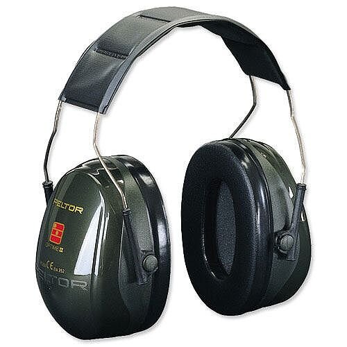 3M Peltor Optime II Ear Muff Defenders 31dB Noise Reduction Ear Muffs Black - Quality ear protectors for noise-hazard environments - Approved to EN352-1 for overhead wear