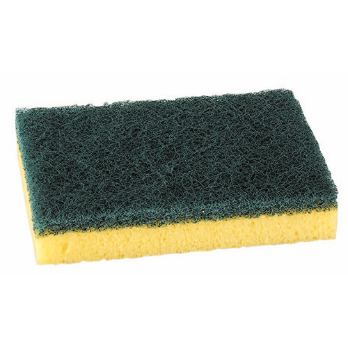 Sponge Scourer Recycled Non-Scratch Heavy Duty Blue Pack of 10