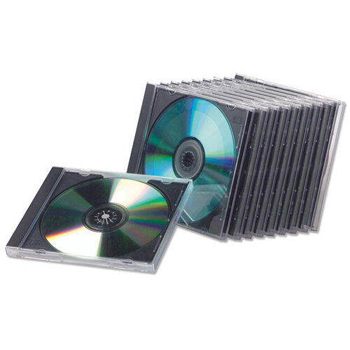 Fellowes CD Jewel Case Slimline Clear Ref 98316 Pack of 25
