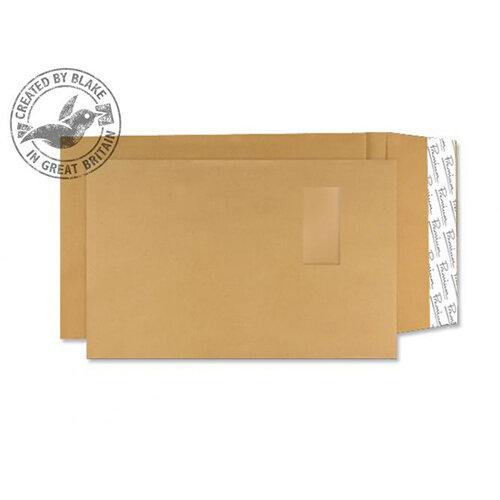 Blake Premium Avant Garde C4 140g/m2 Peel and Seal Window Pocket Envelopes Cream Manilla Pack of 100 Ref 4030989