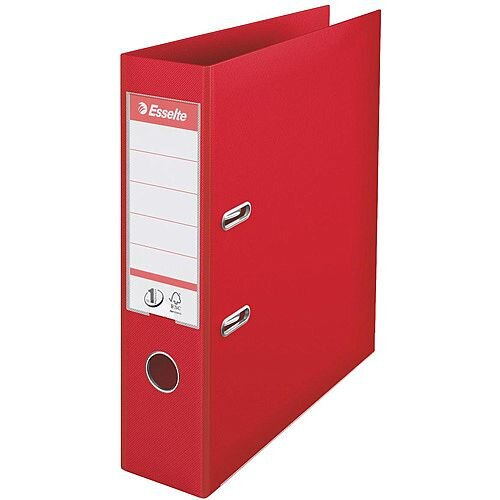 Esselte No.1 Power A4 Lever Arch File PP 500 Sheets 75mm Spine Red Ref 879983