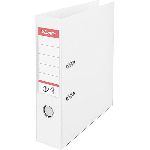 Esselte No.1 Power A4 Lever Arch File PP 500 Sheets 75mm Spine White Ref 4009879