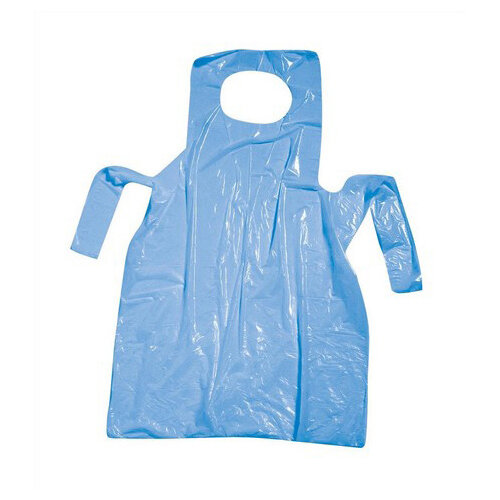 Polythene Aprons On Roll Disposable Perforated 17 Micron 690x1170mm Blue Pack of 200