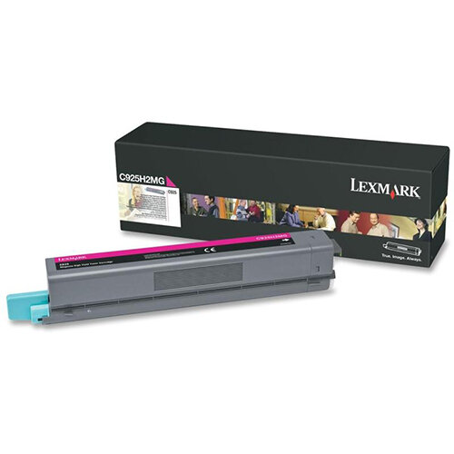 Lexmark Magenta High Yield Toner Cartridge Yield 7,500 Pages for C925 Printers Ref C925H2MG