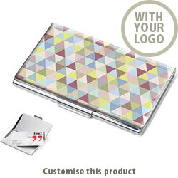 Triangle Art Business Card Holder 173896 - Customise with your brand, logo or promo text