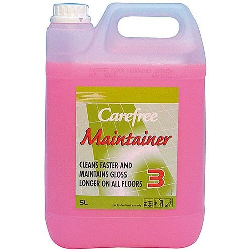 Diversey Carefree Professional Floor Cleaner 5L Container Stage 3- fragranced neutral cleaner - suitable for damp mopping, spray cleaning, bonnet buffing and machine scrubbing