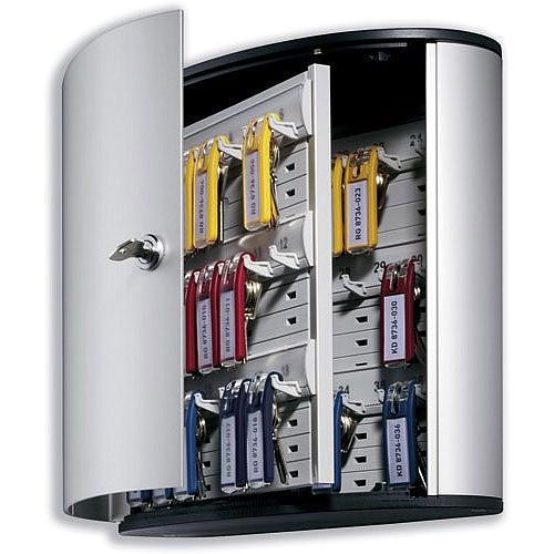 Durable Key Box Key Safe Cabinet 36 Key Capacity Silver