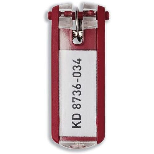Durable Key Clip Red Pack of 6