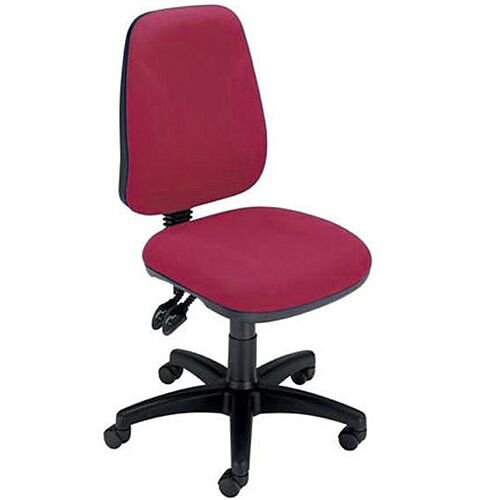 Permanent Contact High Back Task Operators Office Chair Claret Trexus Intro