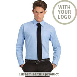 Men's Oxford Long Sleeve Shirt 190381 - Customise with your brand, logo or promo text