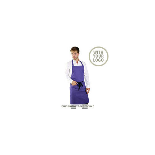 Polycotton Bib Apron With Pocket 190769 - Customise with your brand, logo or promo text
