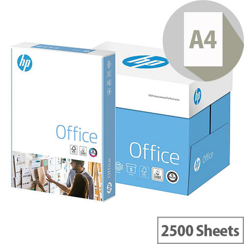 HP Hewlett Packard A4 80gsm White Copier Paper Box of 2500 Sheets 93595