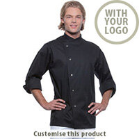 Karlowsky Lars L/Sleeve Chefs Jacket 191410 - Customise with your brand, logo or promo text